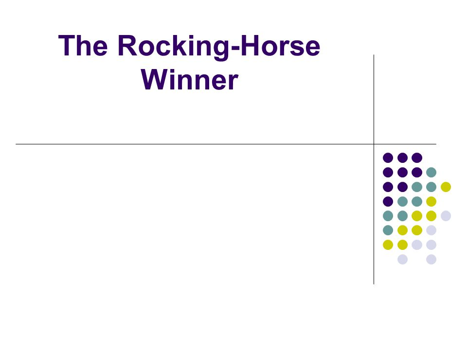 the rocking horse winner imagery