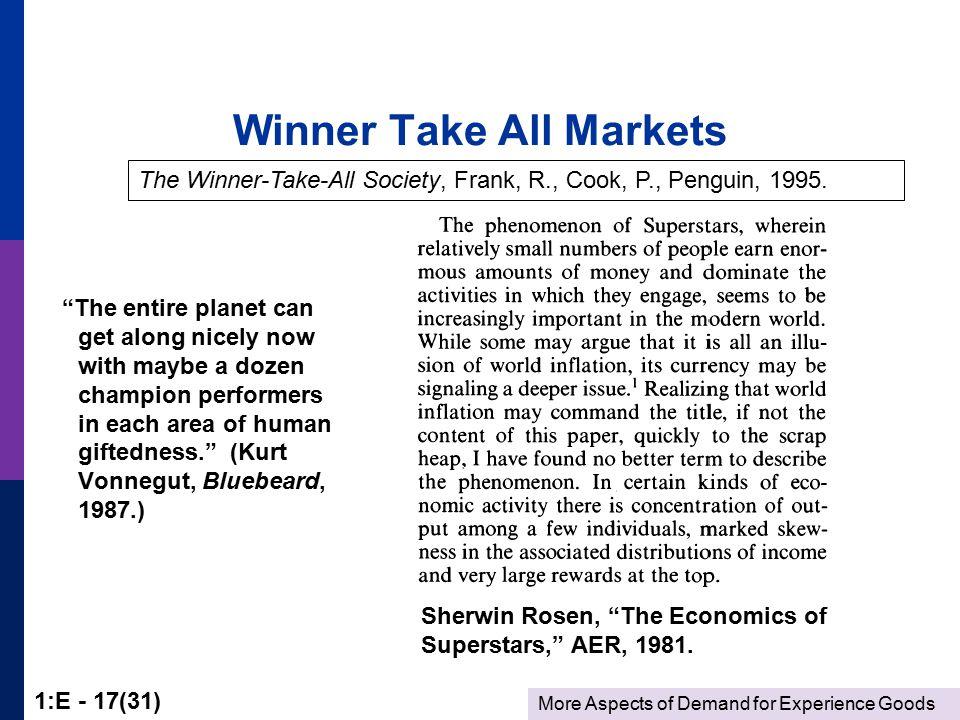 the economics of superstars