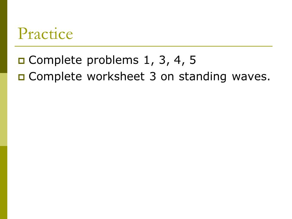 Standing Waves 1 Part 1 Strings Transverse Standing Waves 0503