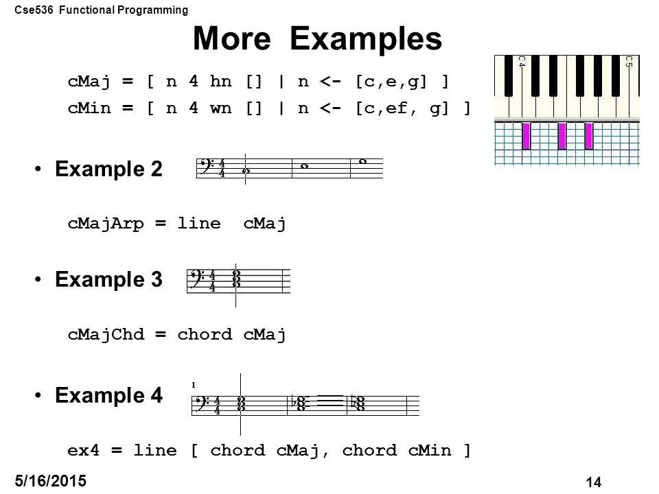 Cse536 Functional Programming 1 5162015 Lecture 19 Dec 1 6