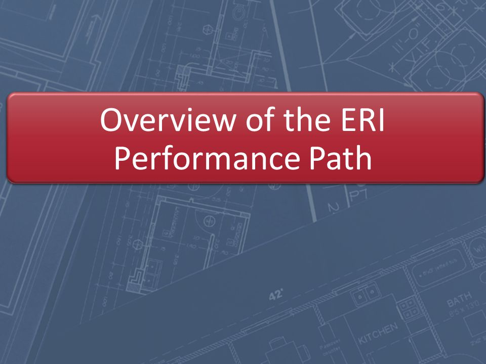 Overview of the ERI Performance Path