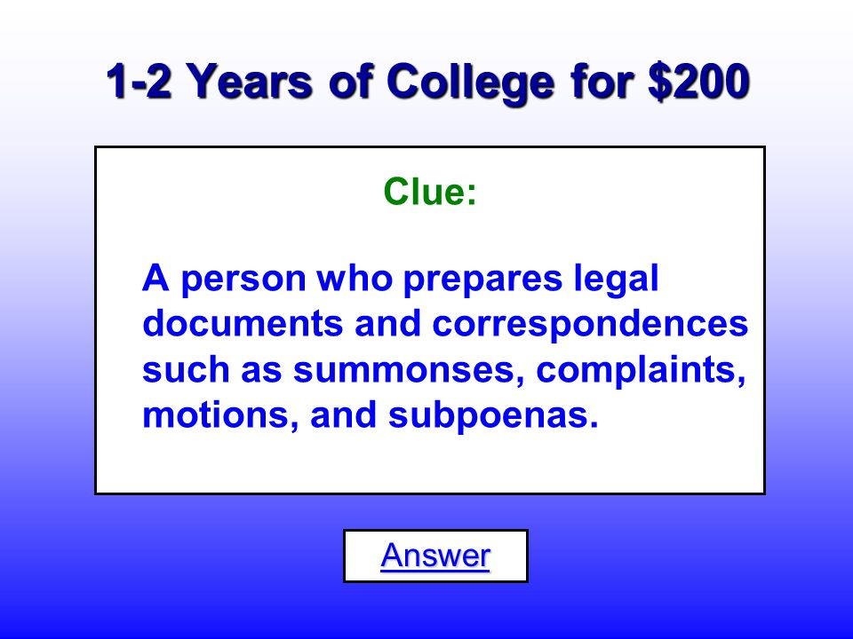 1-2 Years of College for $100 What is an...