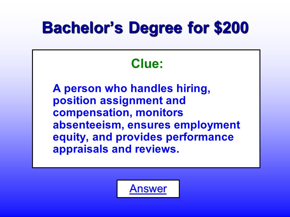 Bachelor's Degree for $100 What is an... Accountant