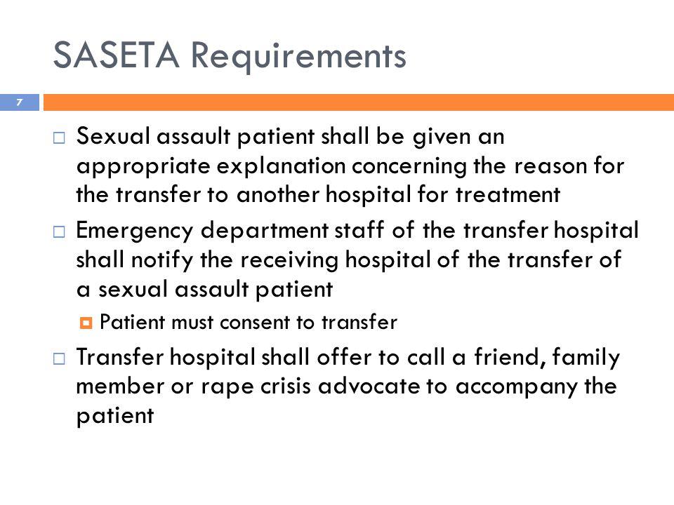 TREATMENT OF SEXUAL ASSAULT SURVIVORS IN ILLINOIS – TRANSFER