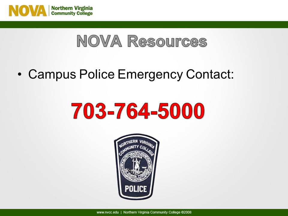 Campus Police Emergency Contact: