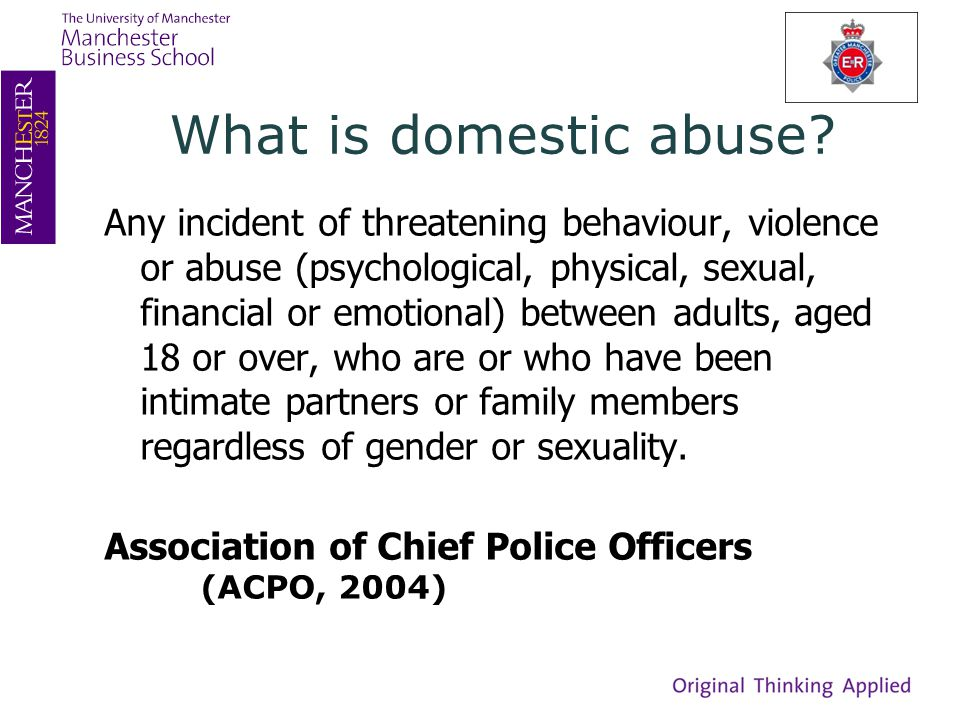 What is domestic abuse.