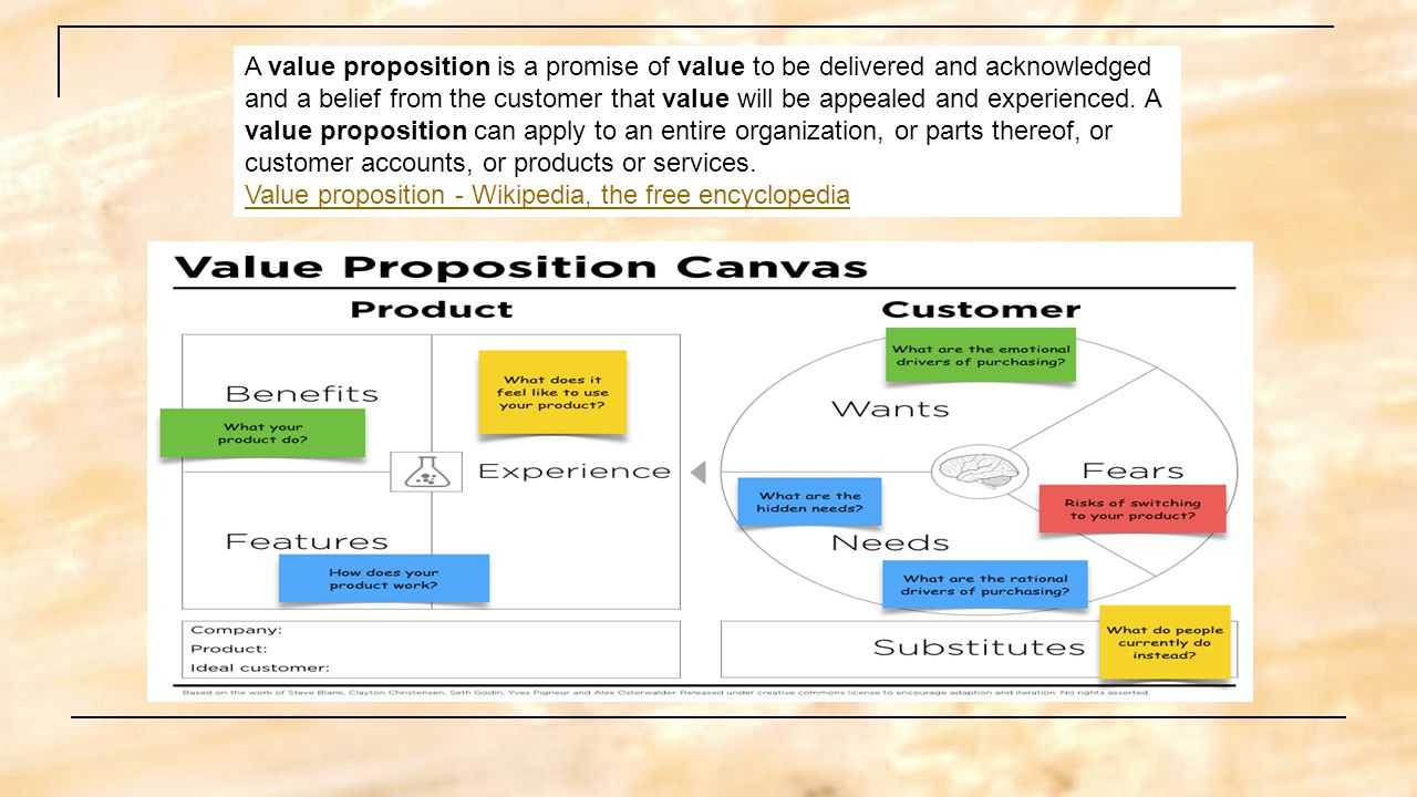 A Value Proposition Is A Promise Of Value To Be Delivered And