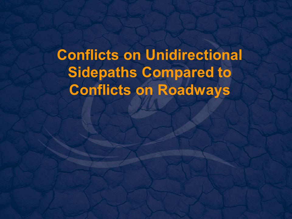 Conflicts on Unidirectional Sidepaths Compared to Conflicts on Roadways