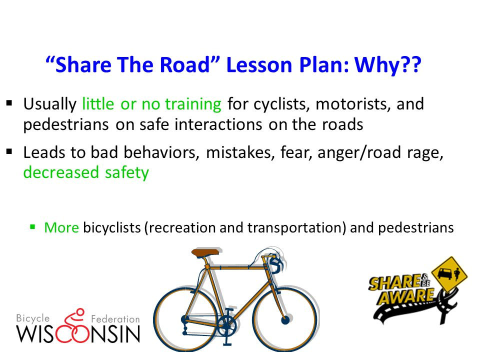 Share The Road Lesson Plan: Why .
