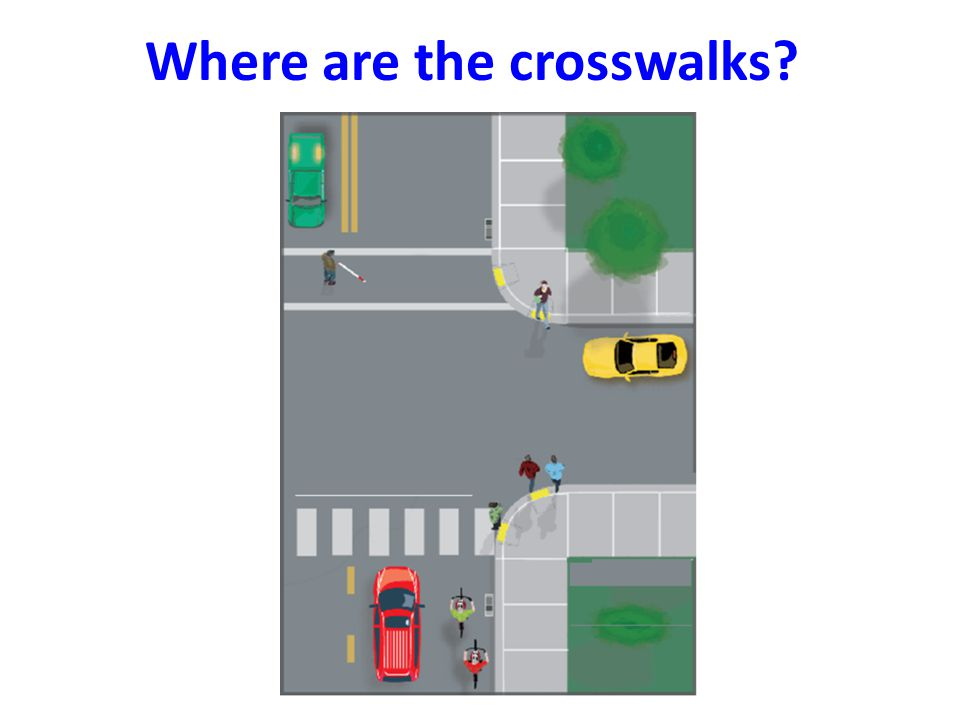 Where are the crosswalks