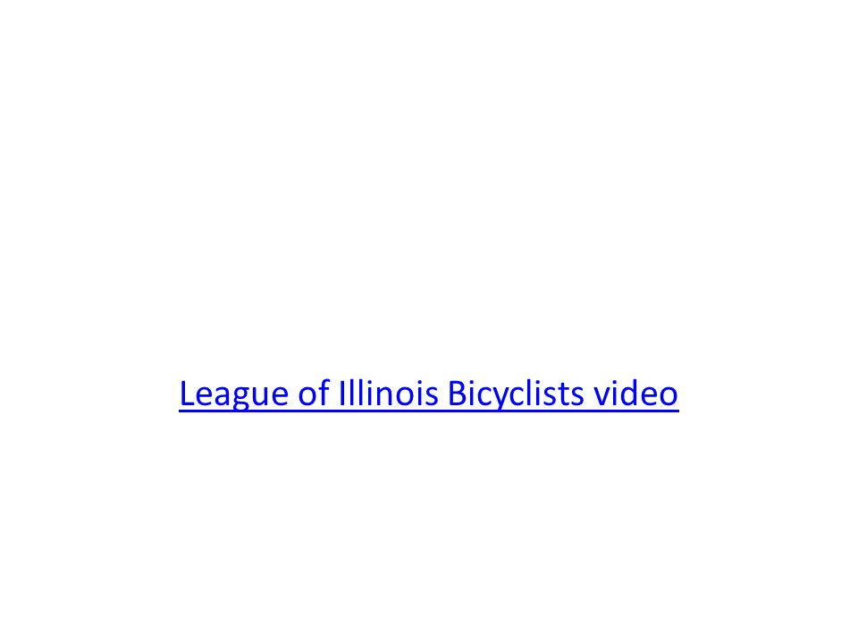 League of Illinois Bicyclists video