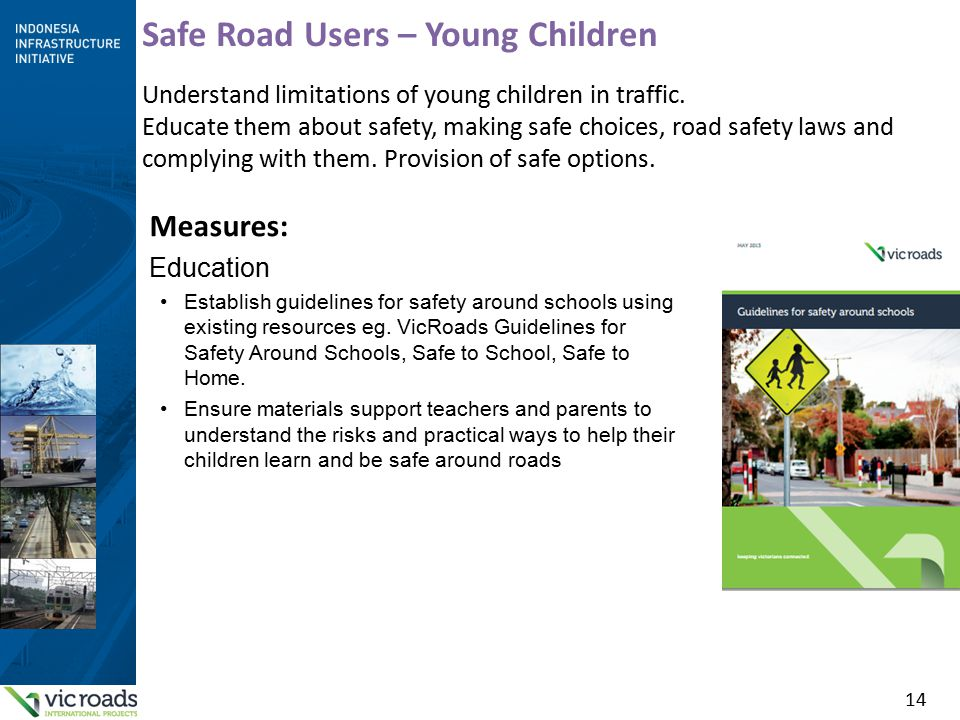 14 Safe Road Users – Young Children Understand limitations of young children in traffic.