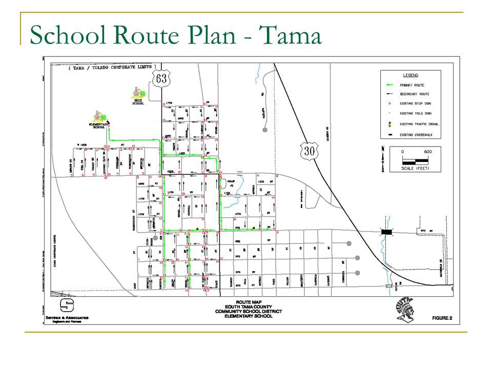 School Route Plan - Tama