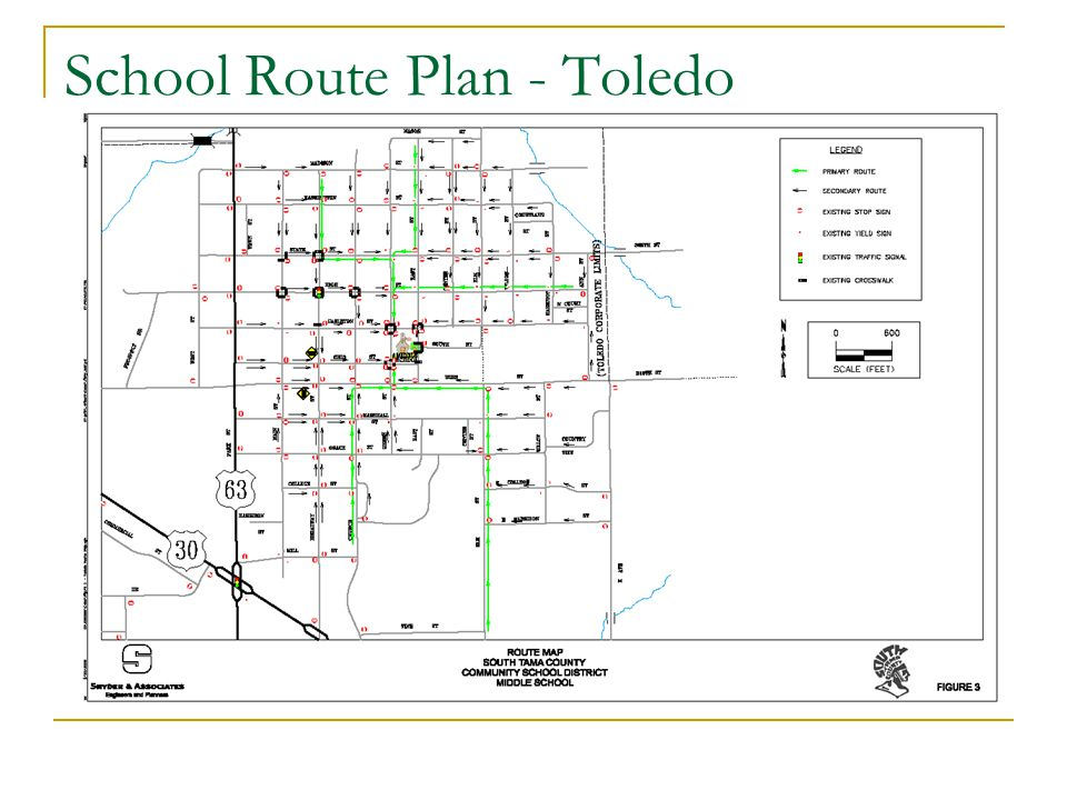 School Route Plan - Toledo