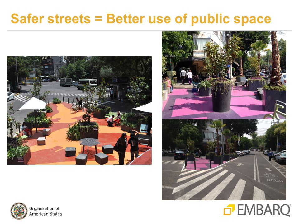 Safer streets = Better use of public space