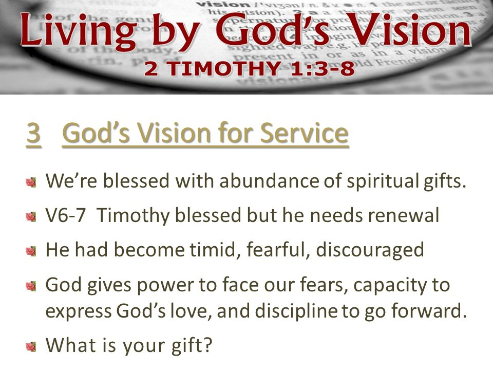 88d4183a757 3 God s Vision for Service We re blessed with abundance of spiritual gifts.