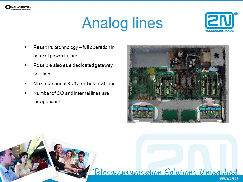 2N OMIKRON Multichannel Analog Gateway  Main features