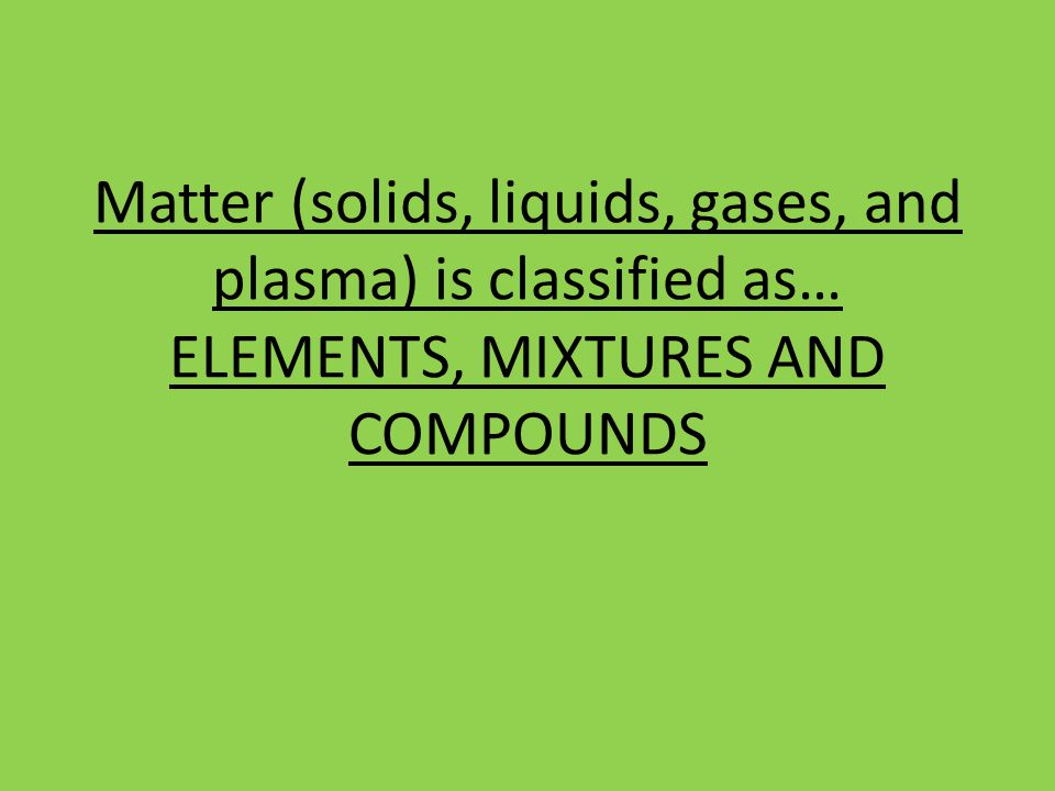 What do you know about matter Solids Liquids Gases Plasma