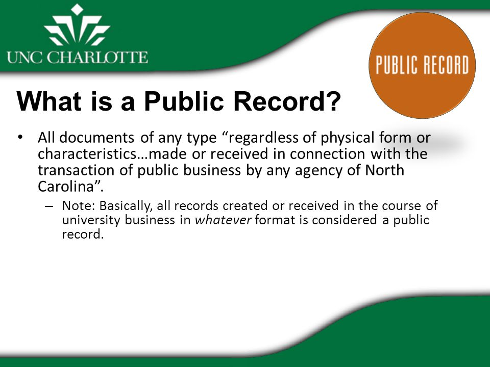 What is a Public Record.
