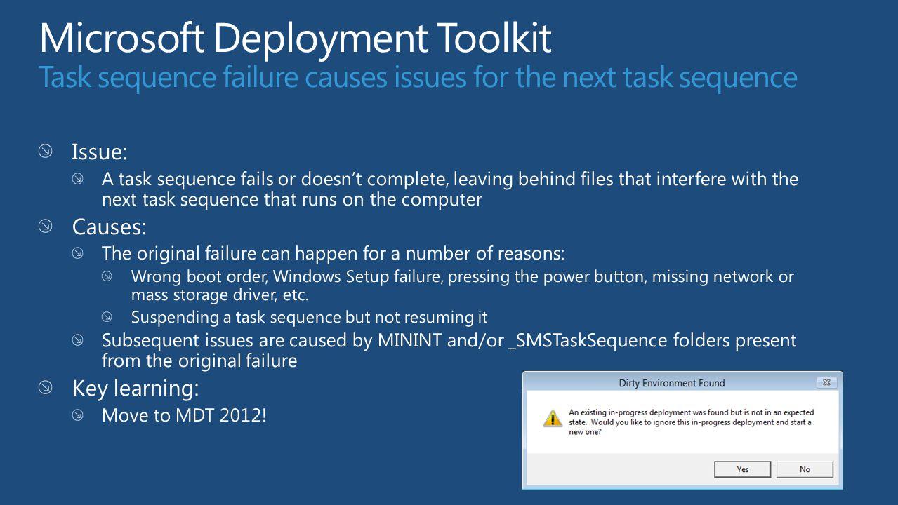 Troubleshooting Windows 7 Deployments Michael Niehaus Senior