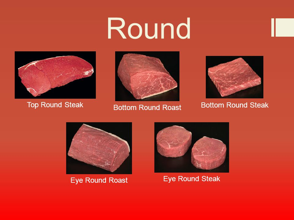 Top round bottom round