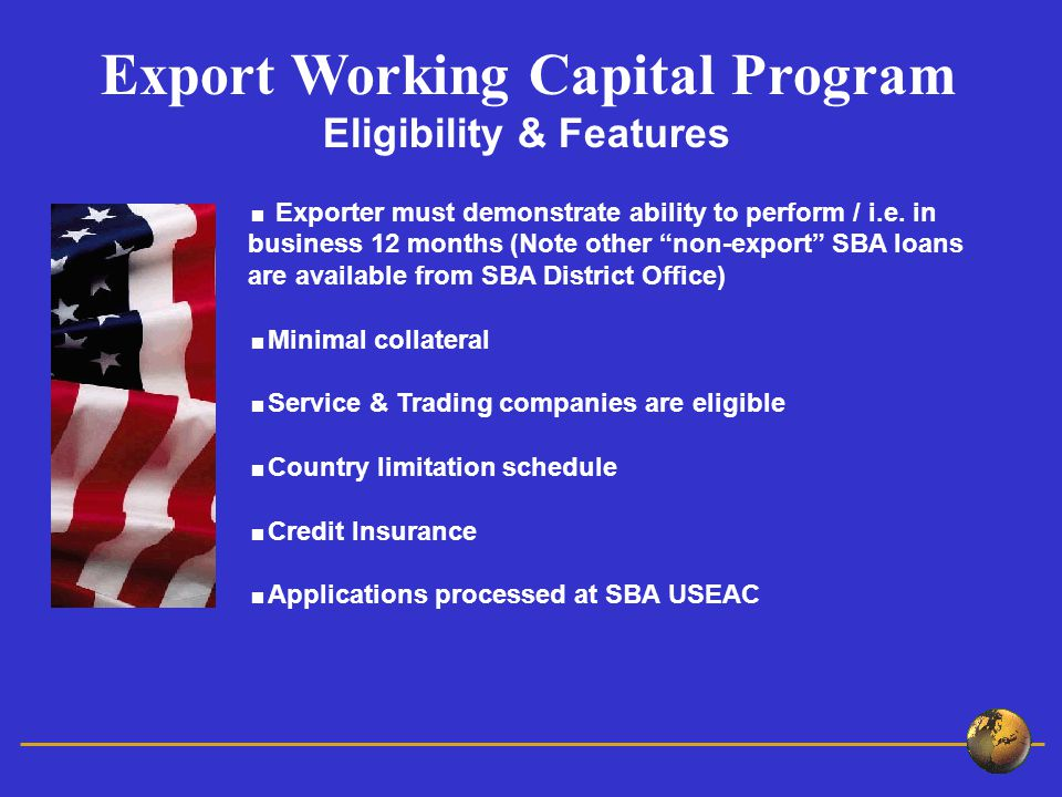  Exporter must demonstrate ability to perform / i.e.