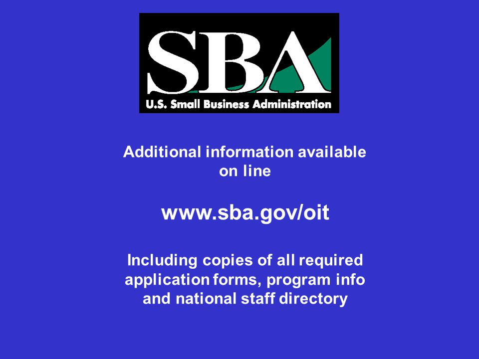 Additional information available on line   Including copies of all required application forms, program info and national staff directory