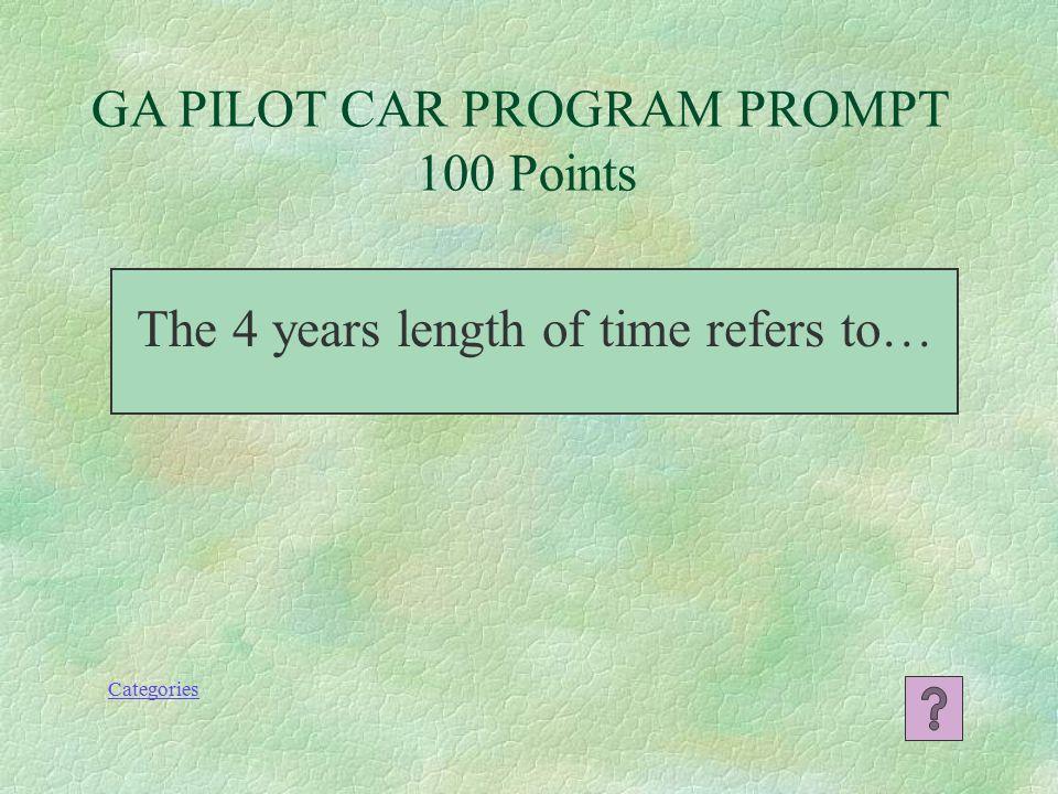 Pilot Car Escort Certification Jeopardy Game Defensive Driving