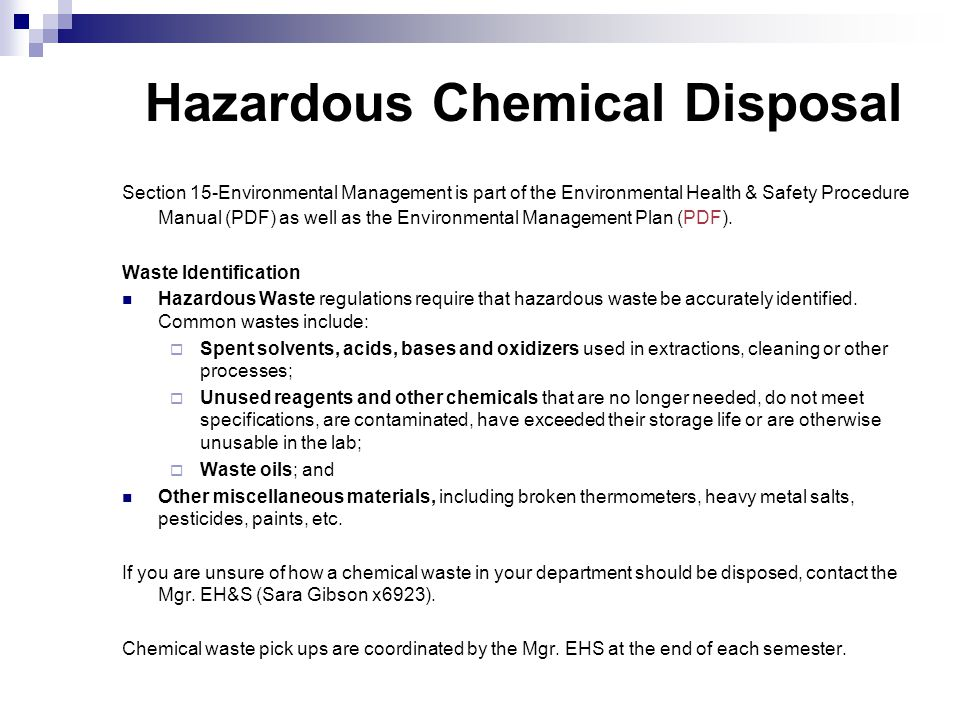 environmental health safety links to next pages environmental rh slideplayer com workplace health and safety procedures manual occupational health and safety procedure manual