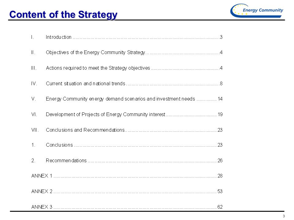 3 Content of the Strategy