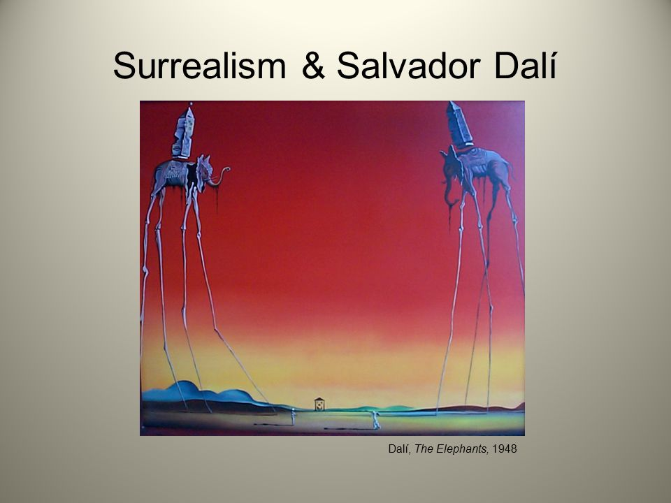 Surrealism & Salvador Dalí Dalí, The Elephants, 1948