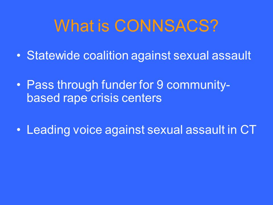 What is CONNSACS.