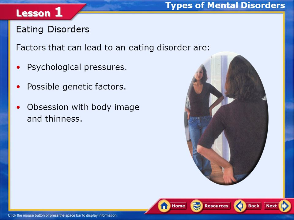 Lesson 1 Two Types of Mood Disorders Clinical depression affects a person's ability to: Concentrate.