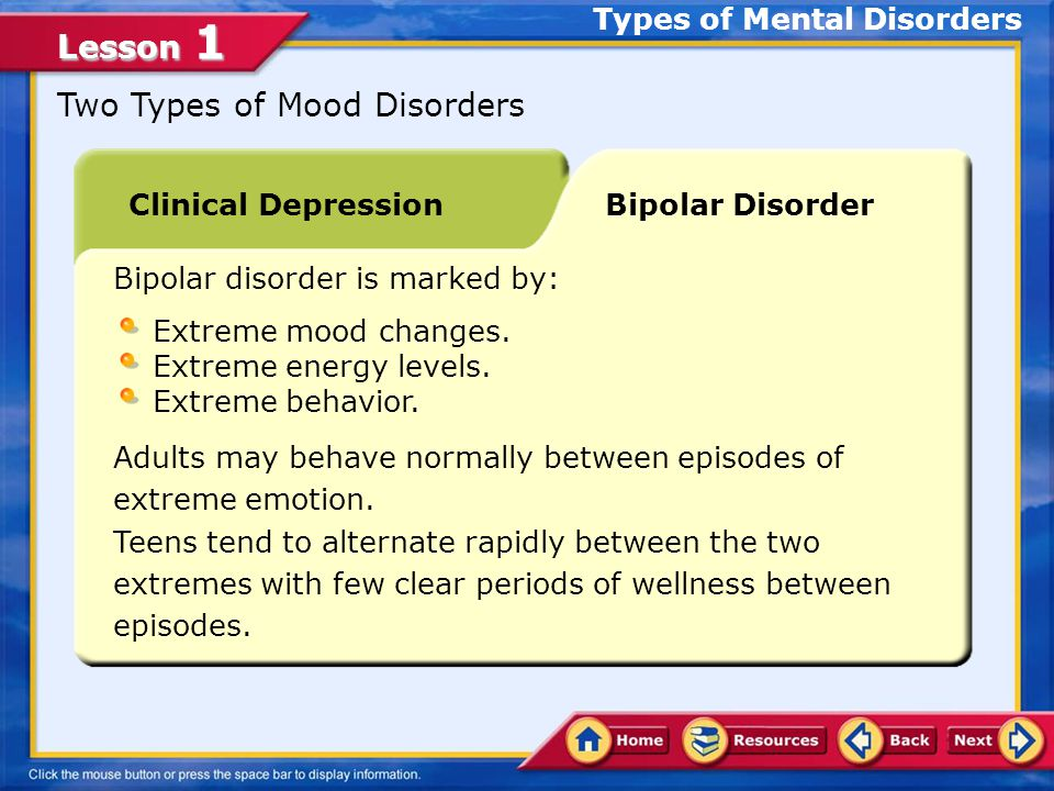 Lesson 1 Broad Classification of Mental Disorders It has a psychological cause and does not involve brain damage.
