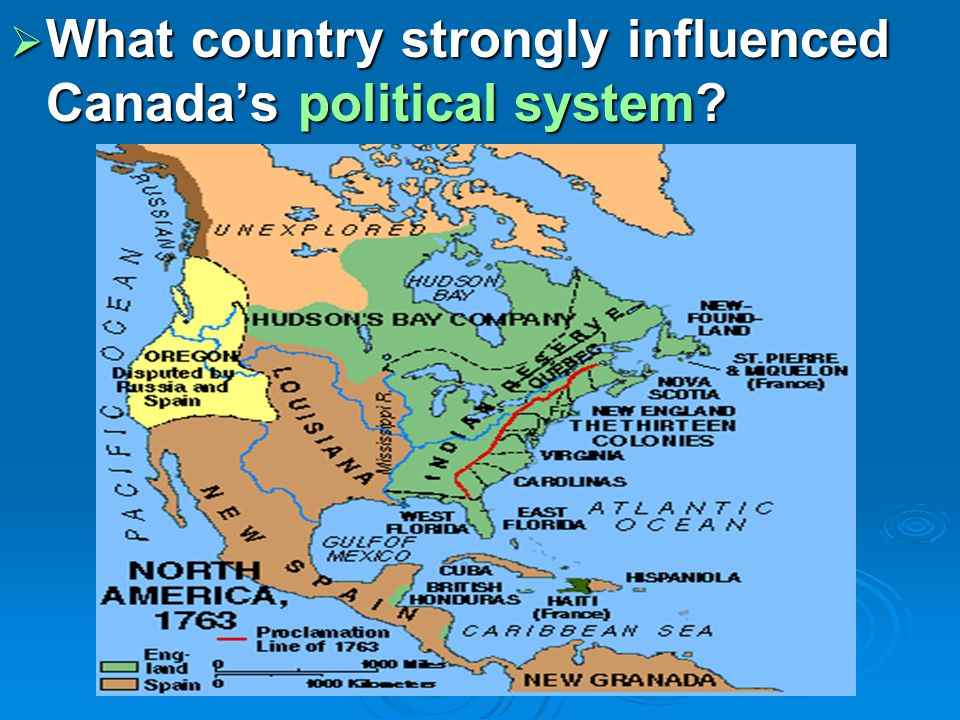  What country strongly influenced Canada's political system