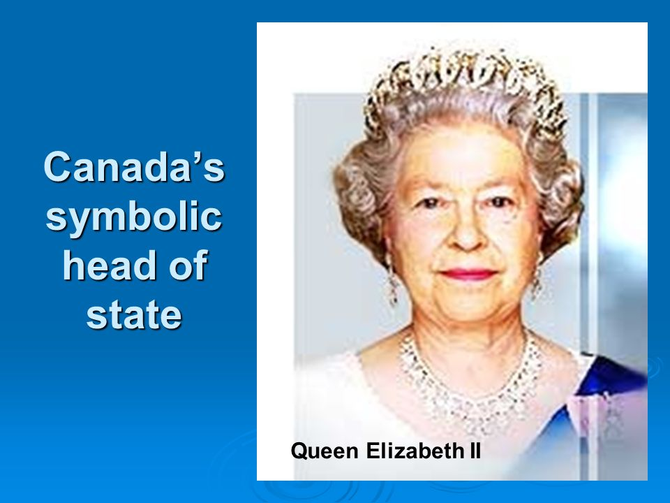 Canada's symbolic head of state Queen Elizabeth II