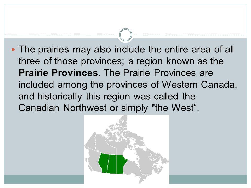 three prairie provinces in canada