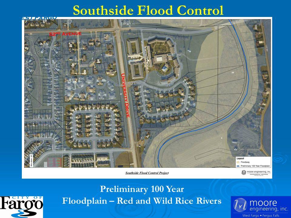 Fargo Flood Control Southside Flood Protection Prairie View Estates on