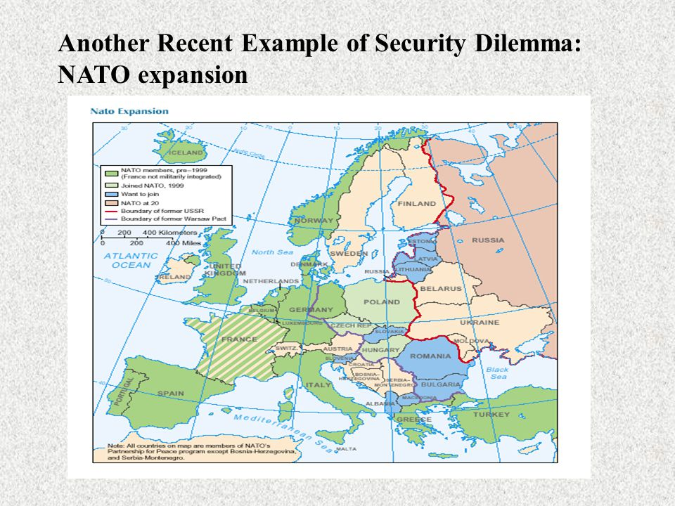 Another Recent Example of Security Dilemma: NATO expansion