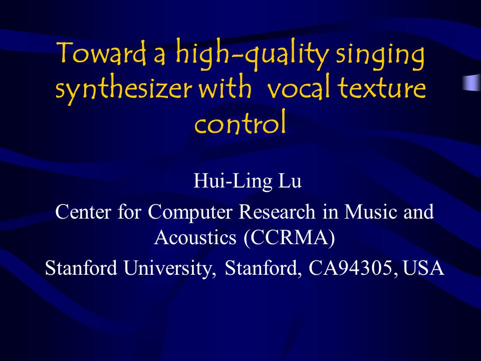 Toward a high-quality singing synthesizer with vocal texture control