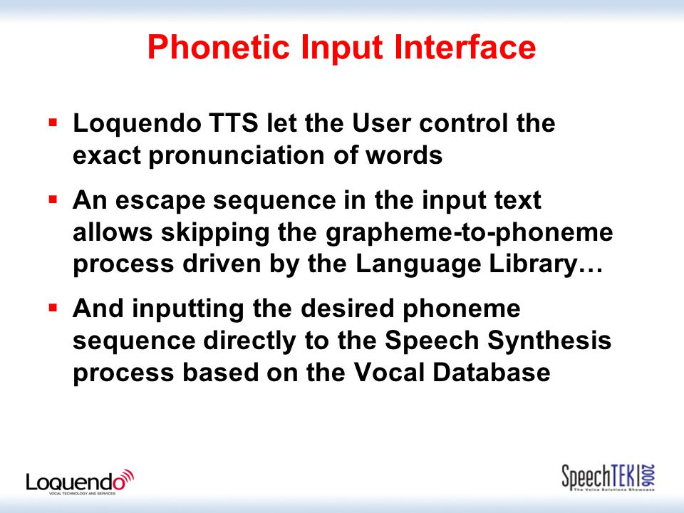 Text to Speech for In-car Navigation Systems Luisa Cordano