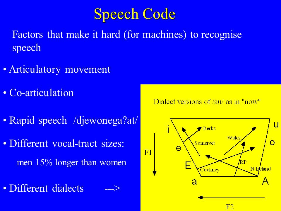 The disadvantage of co-articulation for perception is that there are no constant acoustic targets in speech.
