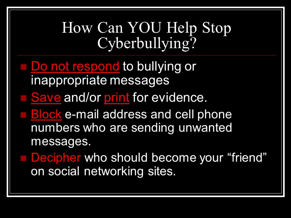 How Can YOU Help Stop Cyberbullying.