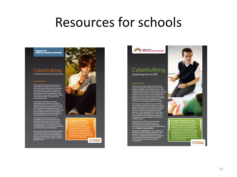 14 Resources for schools