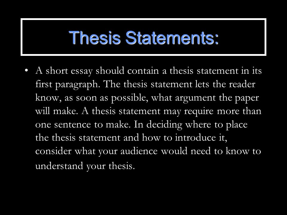 Thesis statement more than one sentence curriculum vitae examples resume