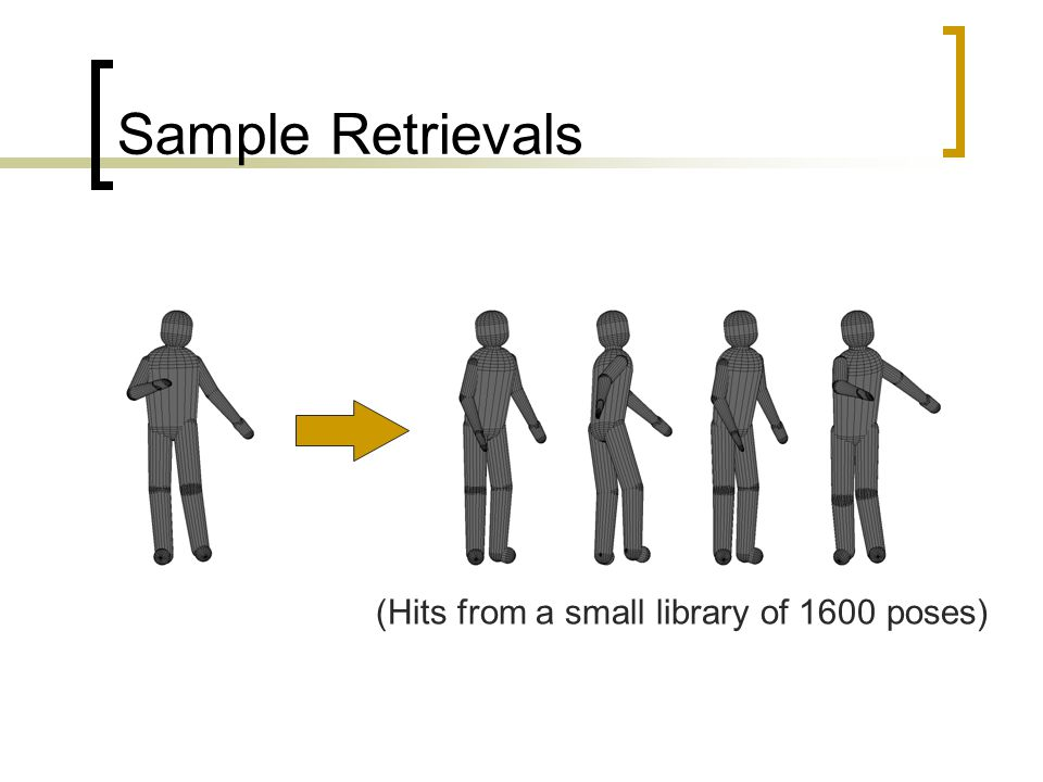 Sample Retrievals (Hits from a small library of 1600 poses)