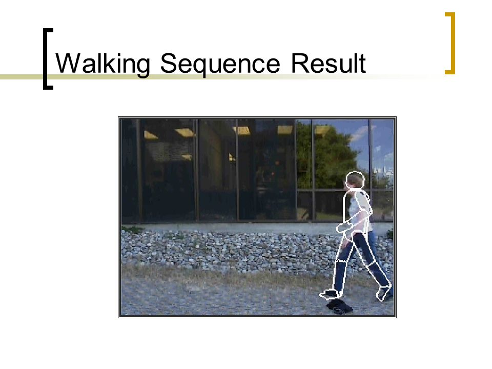 Walking Sequence Result
