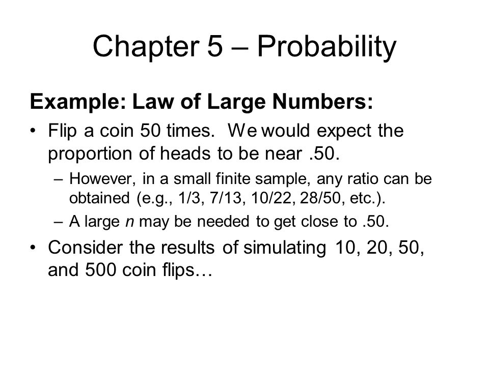 The law of large numbers pick a coin. Define xn to. | chegg. Com.