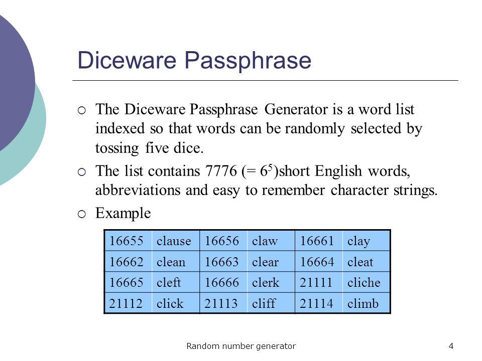 diceware password generator