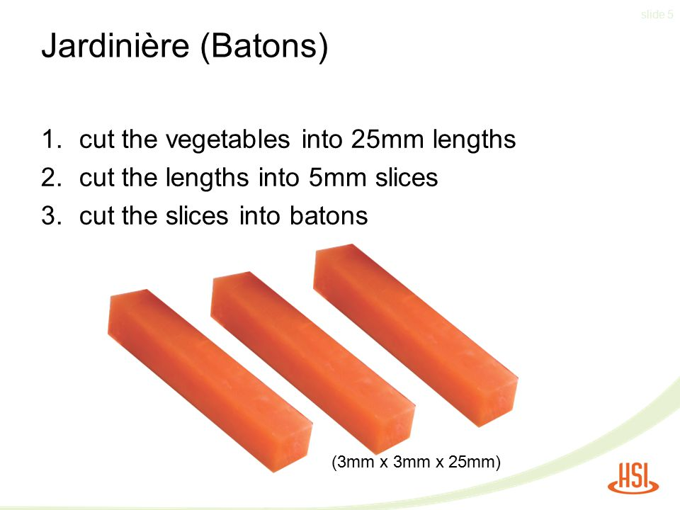 Slide 1 Prepare Fruit And Vegetable Cuts Nzqa Unit Standard V3